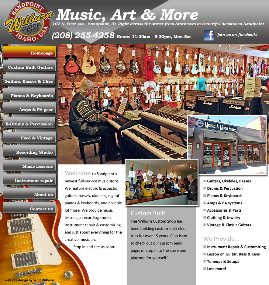 wilburn custom shop music art and more sandpoint idaho. Black Bedroom Furniture Sets. Home Design Ideas